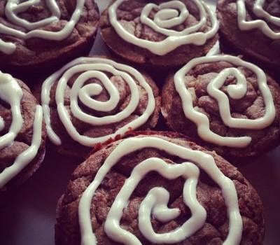 Cinnamon Bun Protein Cupcakes