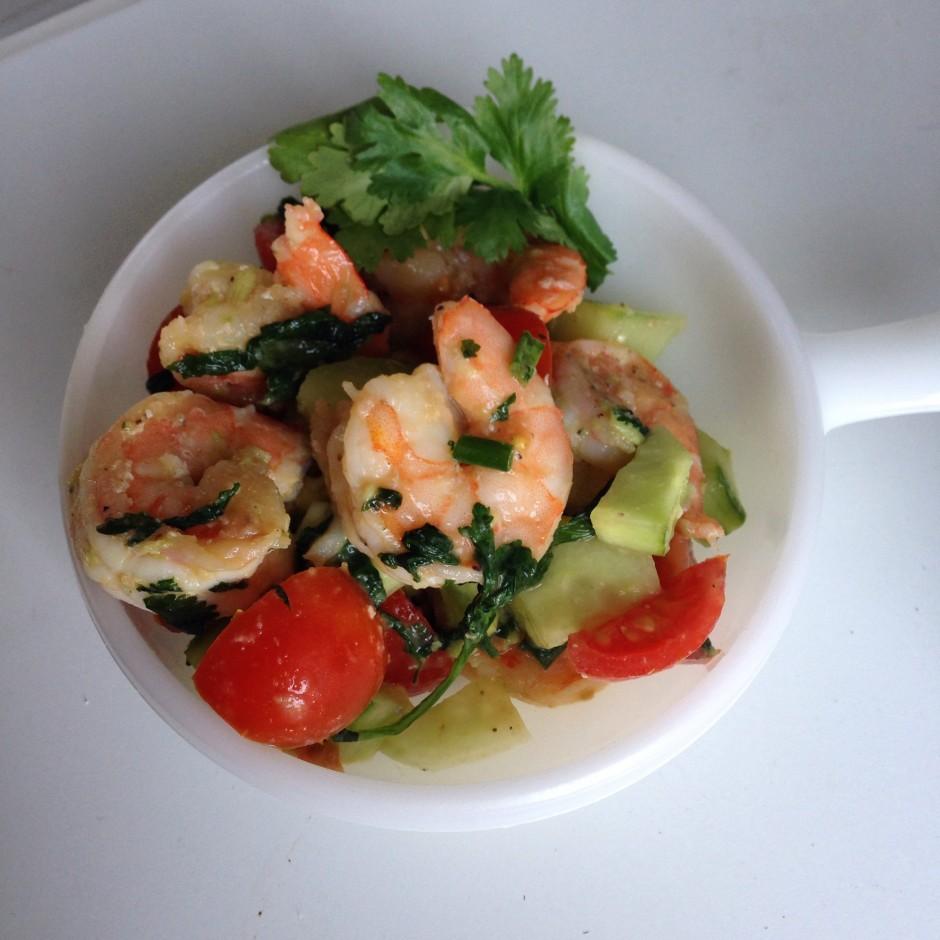 Cilantro Shrimp & Veggie Salad