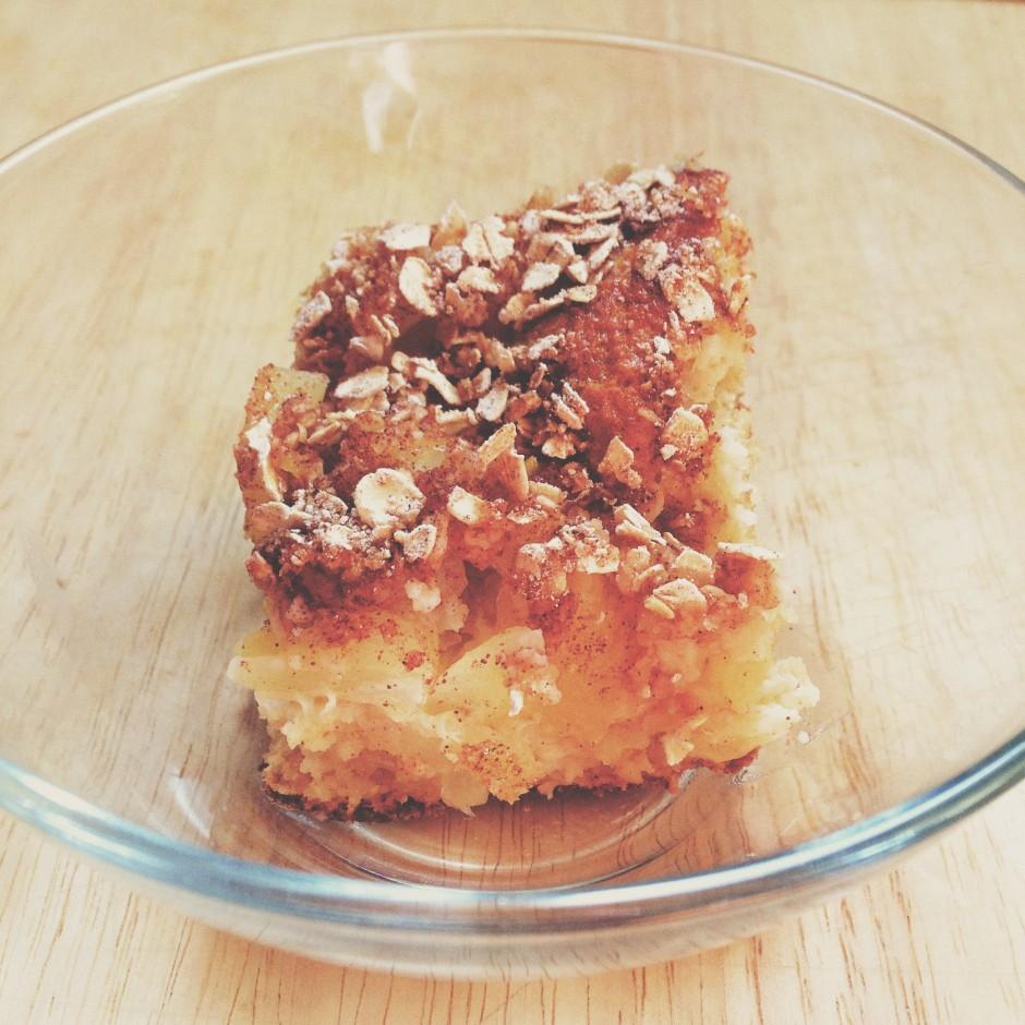 Protein Pineapple Coffee Cake