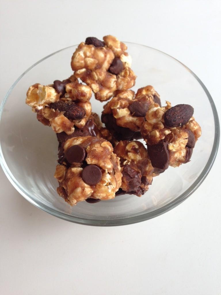 Chocolate PB & Jelly Whey Popcorn Balls
