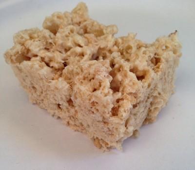 Cinnamon Protein Rice Krispies Treats