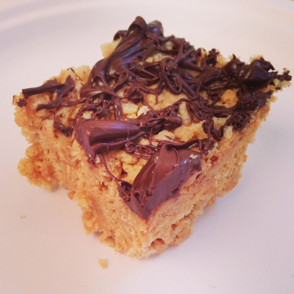 PB Chocolate Protein Rice Krispie Treats