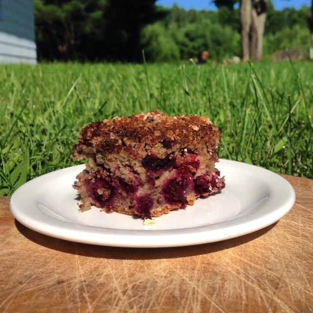 Black Raspberry Crumble Cake