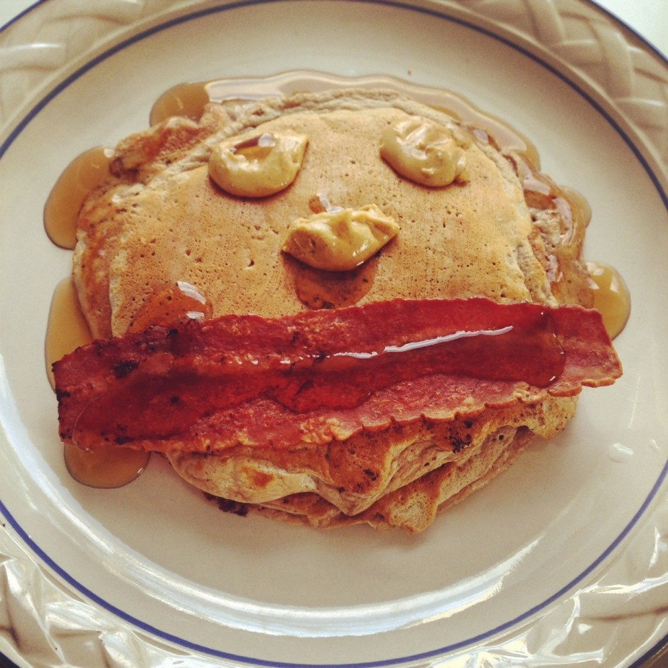 S'mores Toffee Protein Pancakes