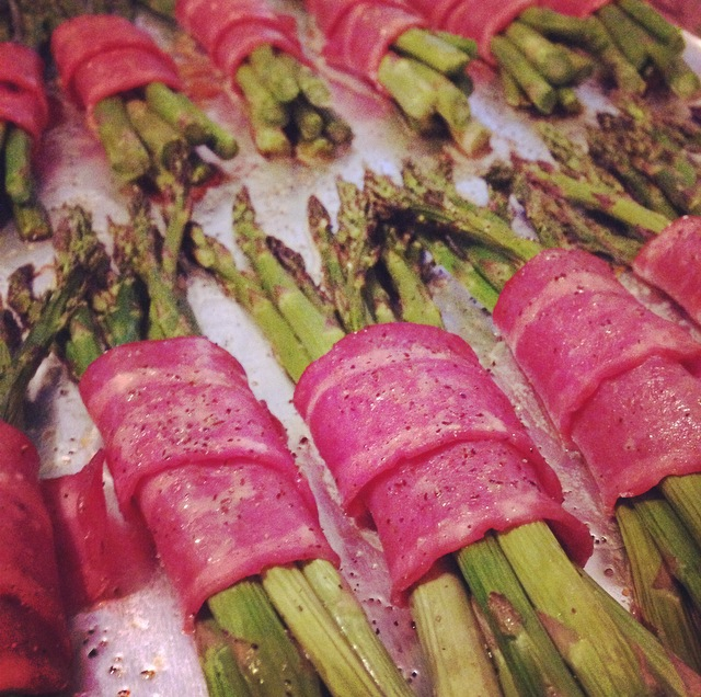 Asparagus Bunches wrapped in Bacon