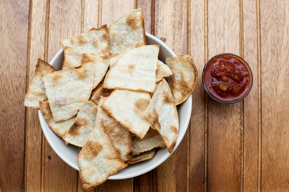 Baked Homemade Truffle Salted Tortilla Chips