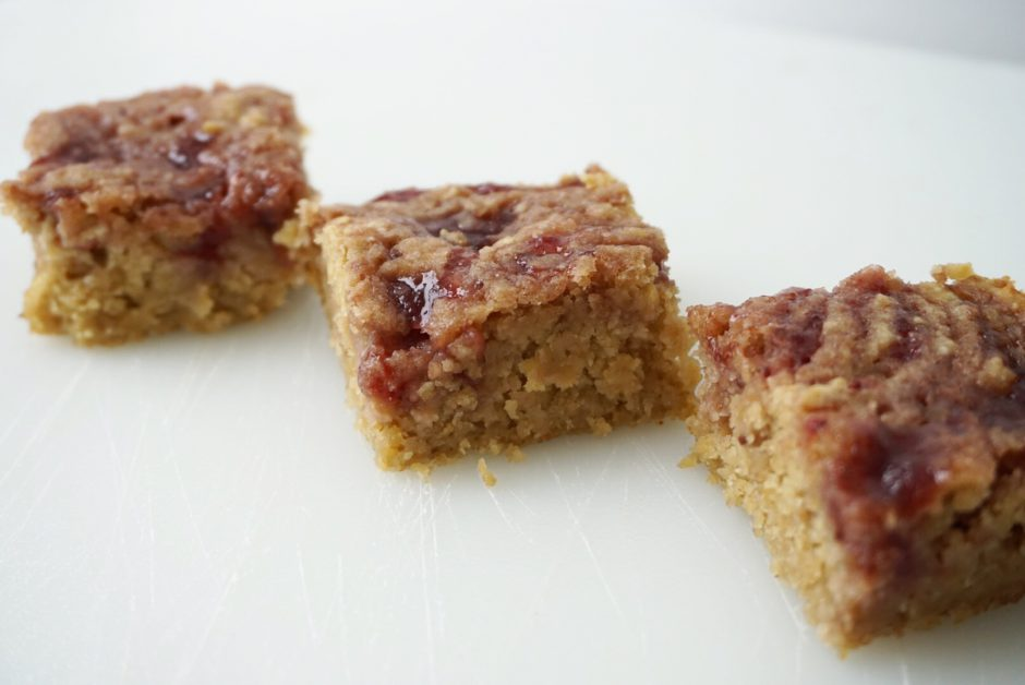 Strawbeany Blondies